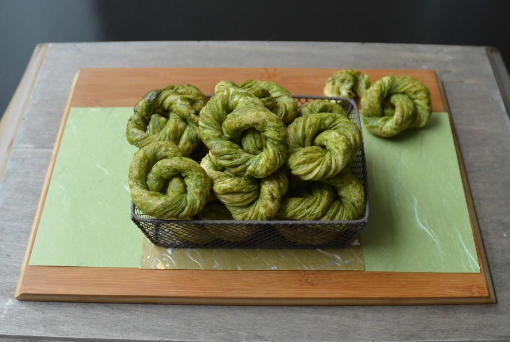variatie palmier groene thee krakeling 3