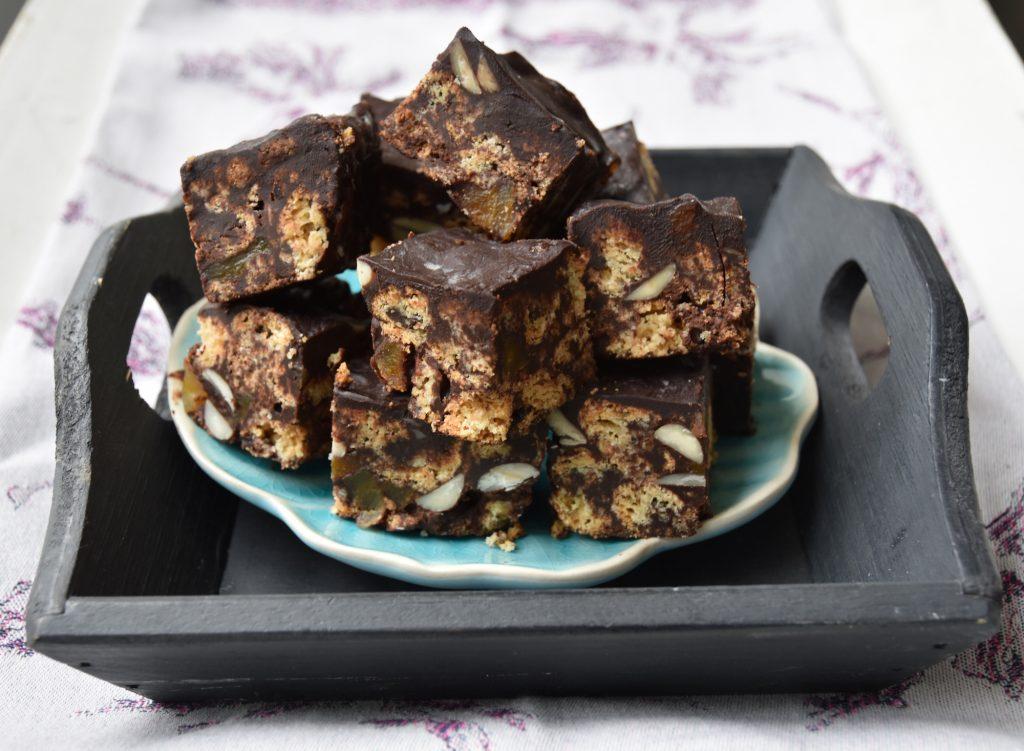 Roemenie chocolade amaretti-amandel koekje