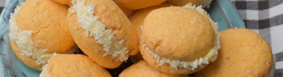 Kokos custard koekje
